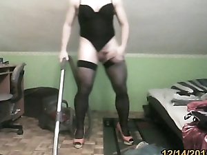 hoovering in the matter of morose lacing leotard