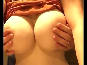 chubby bosom girlfriend played hard by bf