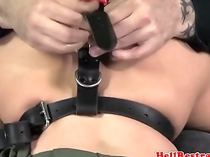 NT tiedup a load off one's feet stimulated with vibrator