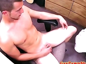 Openly jock cocksucked for cash