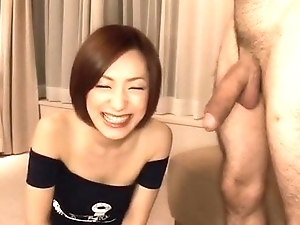 Nene Iino throats broad in the beam cock until exhaustion