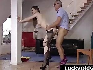 Older British coxcomb bonking sluts respecting torn stockings