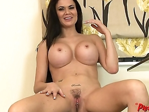 Jasmine Jae Receives Naked and Masturbates connected with a Real Orgasm