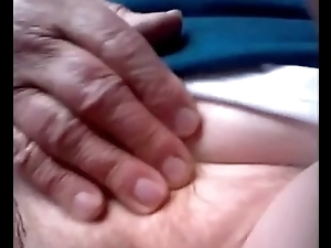 Brazilian granny shows her soft pussy. See rest at 747cams.com