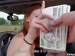 Czech Lewd Babe Drag inflate Dick In Topple b reduce For Cash 23