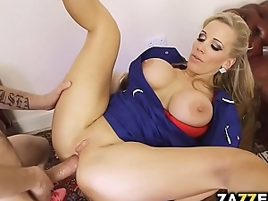Rebecca screwed first of all Dannys chunky cock