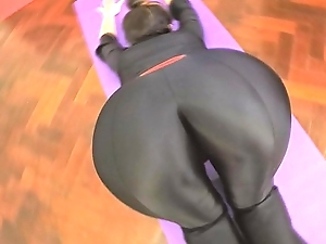 BEST ASS 2015! Working Parts in a Black BodySuit. Enjoy Fiona!