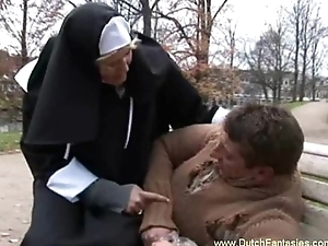 Blonde Dutch Nun Mistreated