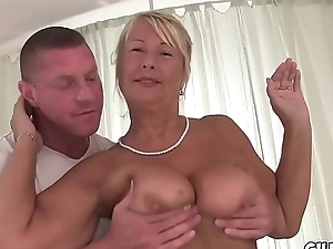 Naughty granny fucked infront be advantageous to camera all round hotel yard