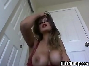 MILF Smokes And Shows Off Say no to Boobs