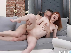 Dude bonks cute Russian redhead at a fake audition