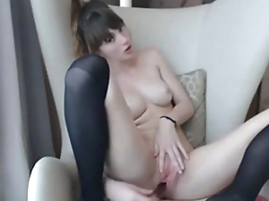 Incredible Kamsru.com girl plays with her pussy